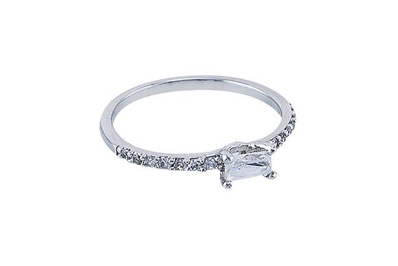 Anillo Vie Simple Silver & White