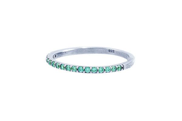 Anillo Vie Silver & Green