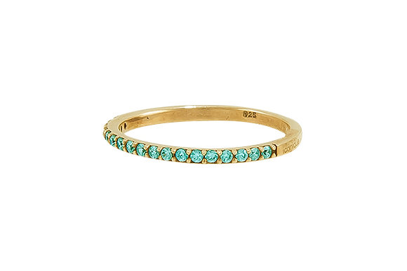 Anillo Vie Gold Green