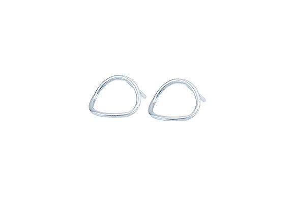 Aretes Tiny Geometric Circle Silver