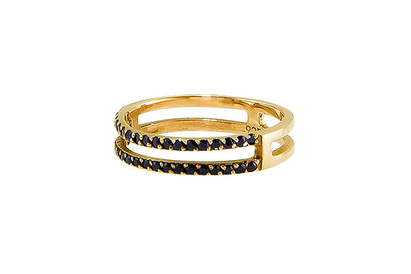 Anillo Doble Sense Gold & Black