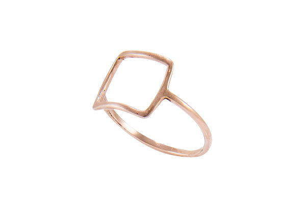 Anillo Tiny Geometric Square Pink