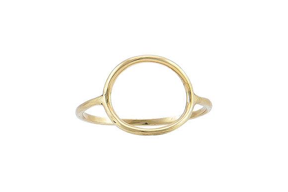 Anillo Tiny Geometric Circle Gold
