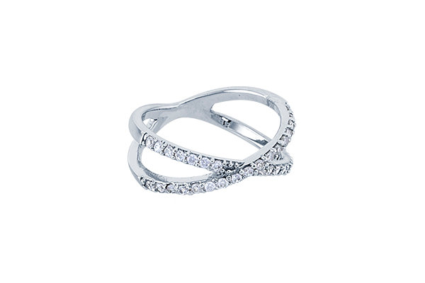 Anillo Crossings Silver & White