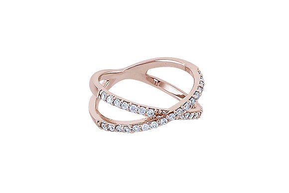 Anillo Crossings Pink & White