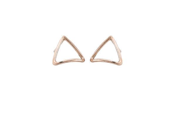 Aretes Tiny Geometric Triangle Pink
