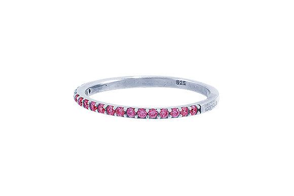 Anillo Vie Silver & Pink
