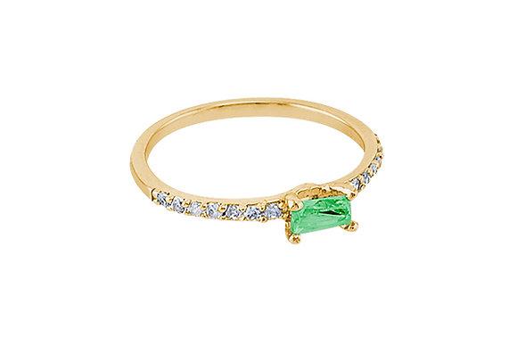 Anillo Vie Simple Gold & Green