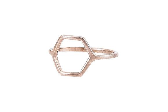 Anillo Tiny Geometric Rombo Pink