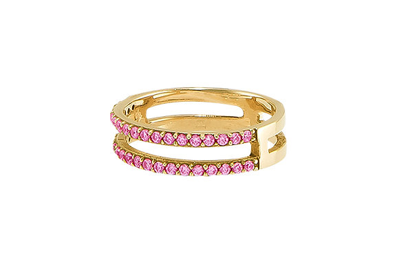 Anillo Doble Sense Gold & Pink