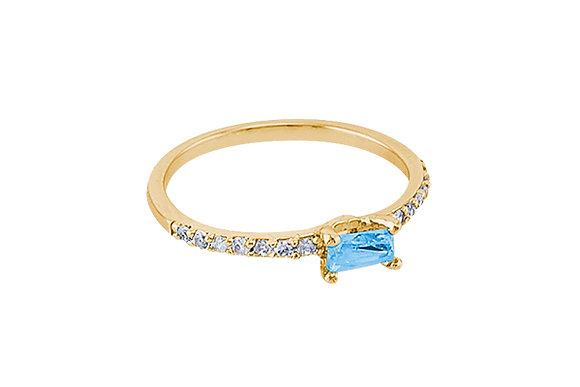 Anillo Vie Simple Gold & Azul