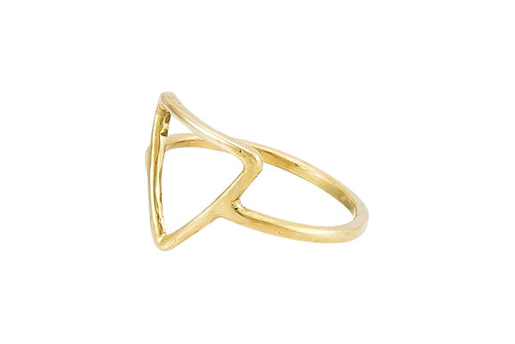 Anillo Tiny Geometric Triangle Gold