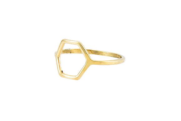 Anillo Tiny Geometric Rombo Gold