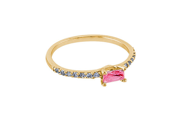 Anillo Vie Simple Gold & Red