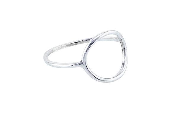 Anillo Tiny Geometric Circle Silver