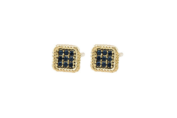Aretes Aston Gold & Black
