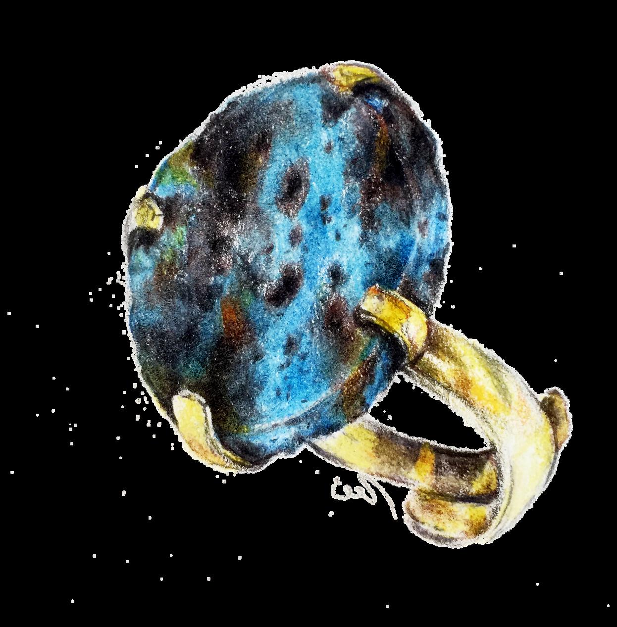 Dibujo de uno de los más hermosos anillos de las joyas iconique, de la colección Marrakesh