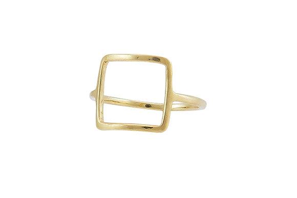 Anillo Tiny Geometric Square Gold