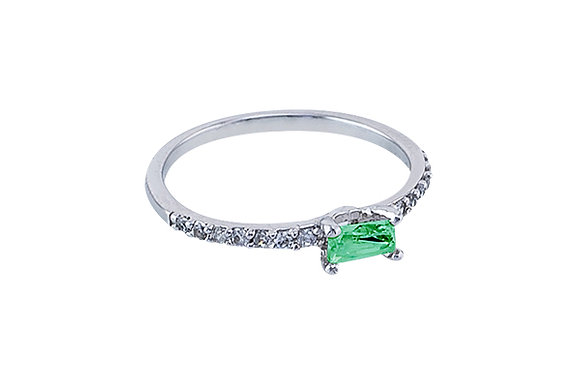 Anillo Vie Simple Silver & Green