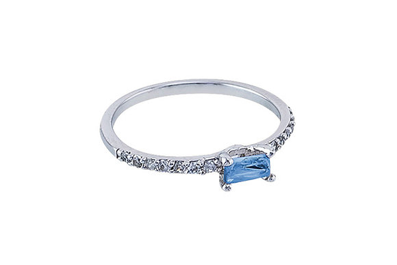 Anillo Vie Simple Silver & Blue