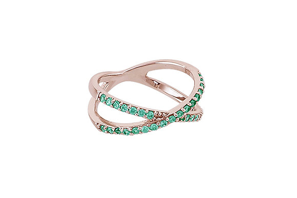 Anillo Crossings Pink & Green