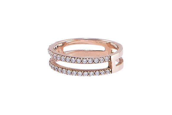 Anillo Doble Sense Pink & White