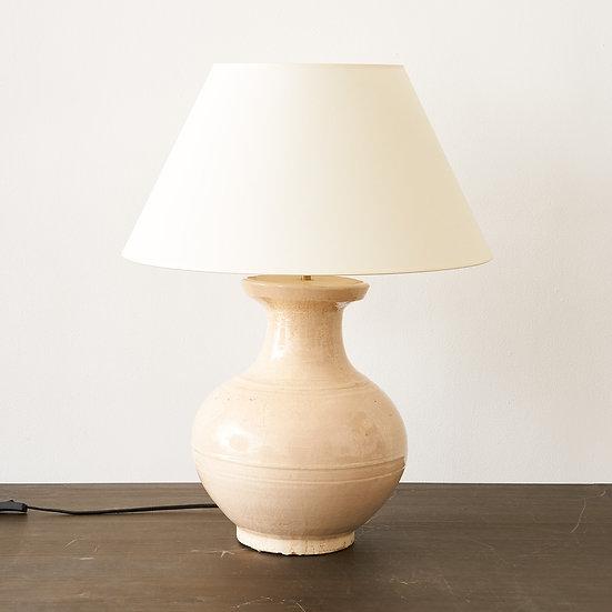 Terracotta Glazed base table lamp - set of 2