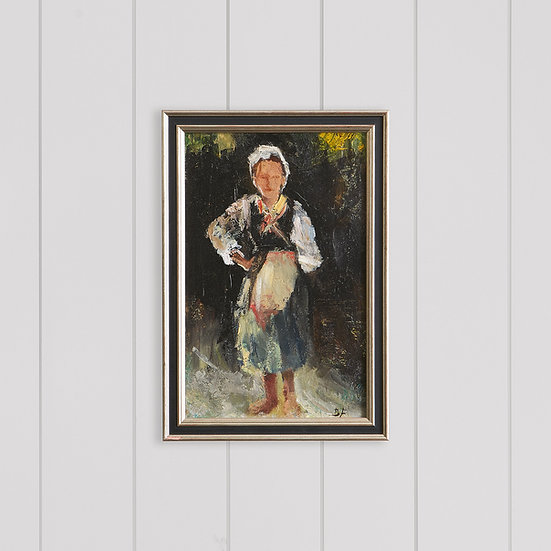 Artwork - Country Lady Oil Painting