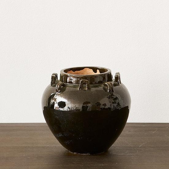 Vintage Terracotta Glazed Vase
