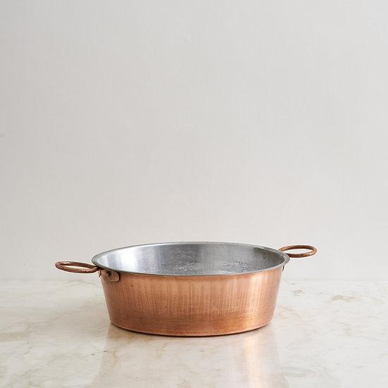 Antique copper platter pan I