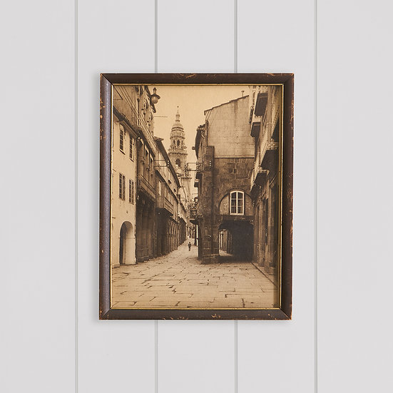 Artwork - Vintage European street village