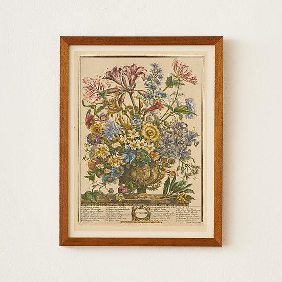 Floral Vintage TRIO - framed print