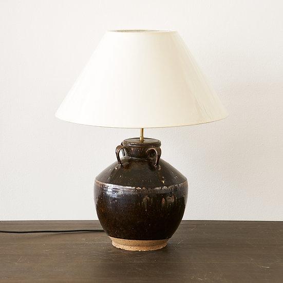 Terracotta base table lamp I