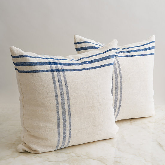 Vintage French Linen Pillow - set of 2