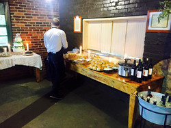 setting up food