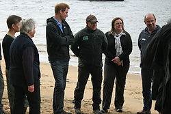HRH Prince Harry with members of Ulva Island Charitable Trust at Ulva Island