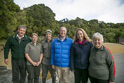John Key (the then New Zealand Prime Minister) and Sarah Dowie MP with DOC and Ulva Island Charitable Trust