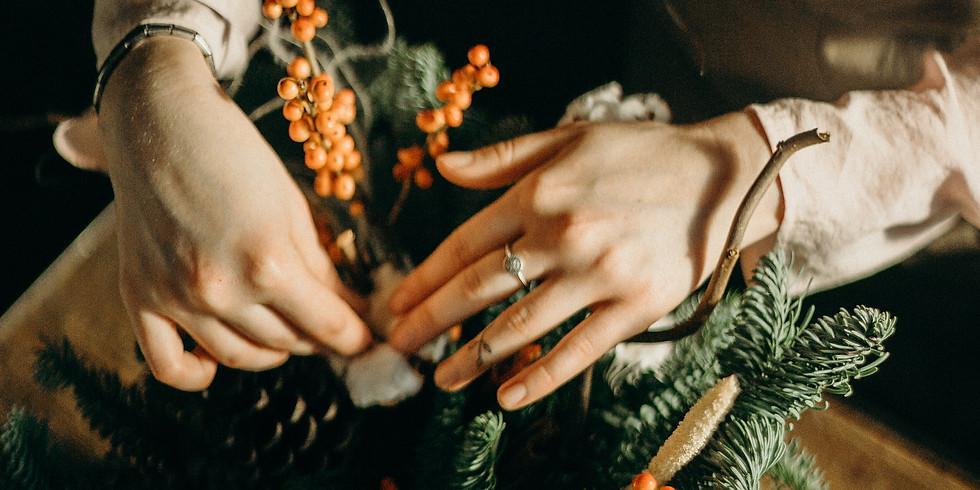 Winter Floral Workshops - Contemporary Arrangement in a Vase