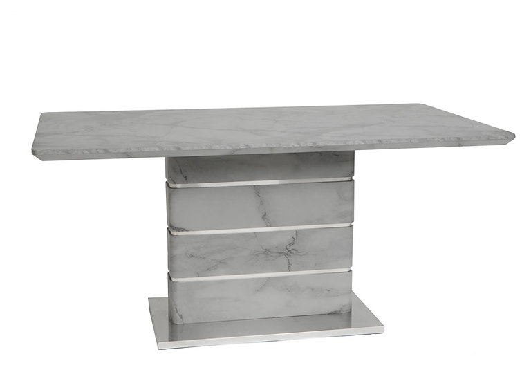 VIXEN MARBLE EFFECT DINING TABLE