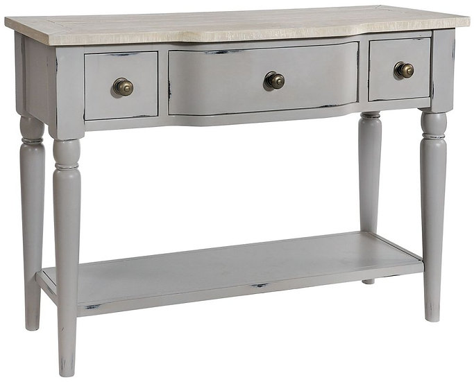Wakefield Grey Painted 3 Drawer Console Table