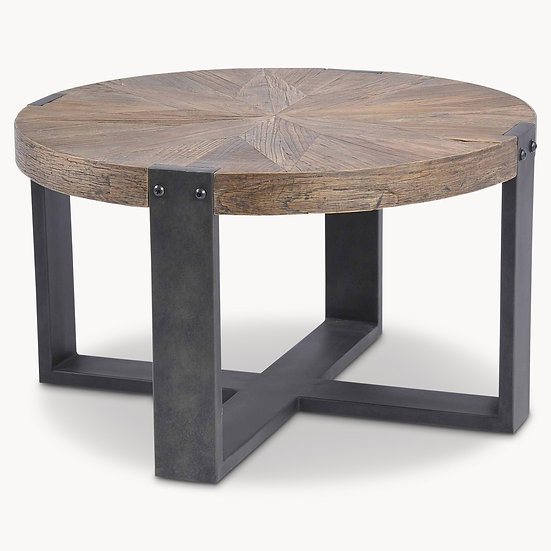 WOODCROFT RECLAIMED ELM SIDE TABLE