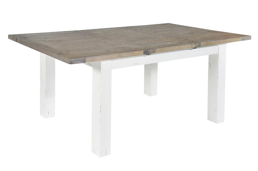 Kent White Painted Distressed Reclaimed Wood 140cm-190cm Rectangular Extending D