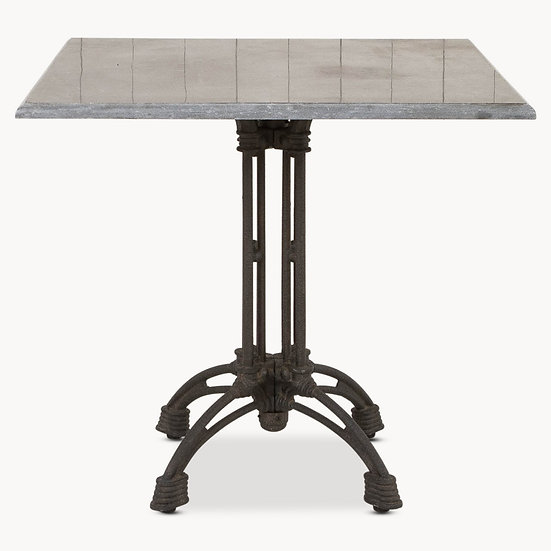 WOODCROFT SQUARE IRON AND STONE TABLE