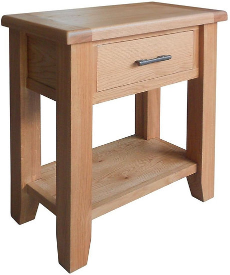 Hampshire Oak 1 Drawer Small Console Table
