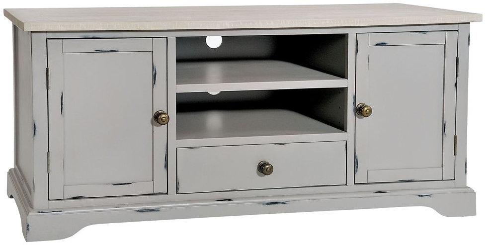 Wakefield Grey Painted 2 Door 1 Drawer TV Cabinet