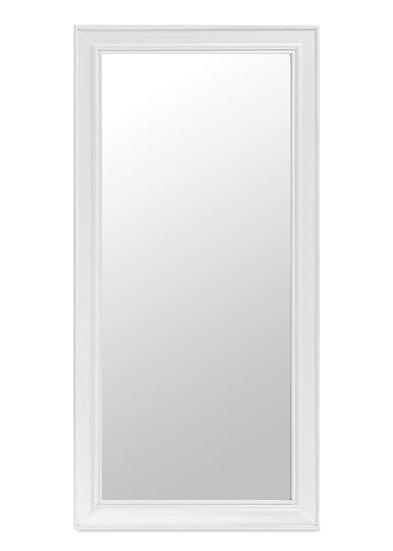 Ashmore Brushed White Rectangular Wall Mirror