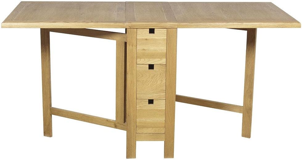 Hampshire Oak Rectangular Extending Gate Leg Dining Table - 92cm-152cm