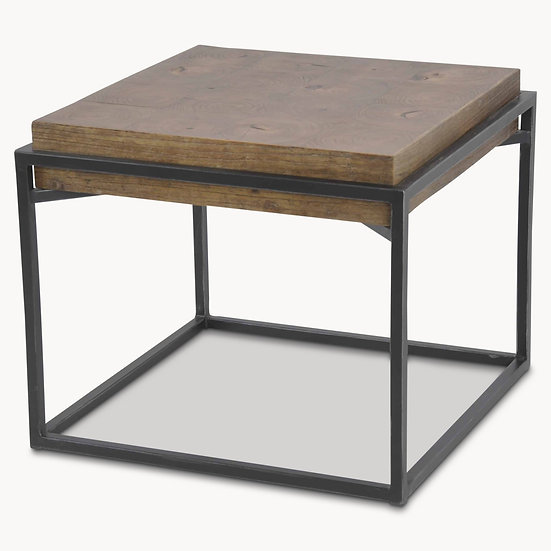WOODCROFT FLOATING ELM AND IRON SIDE TABLE