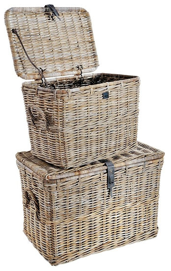 Maze Rattan Grey Log Baskets