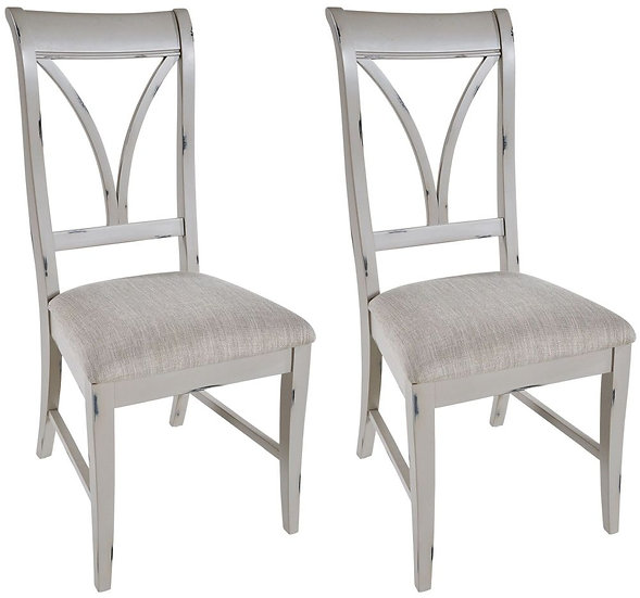 Wakefield Grey Painted Dining Chair (Pair)